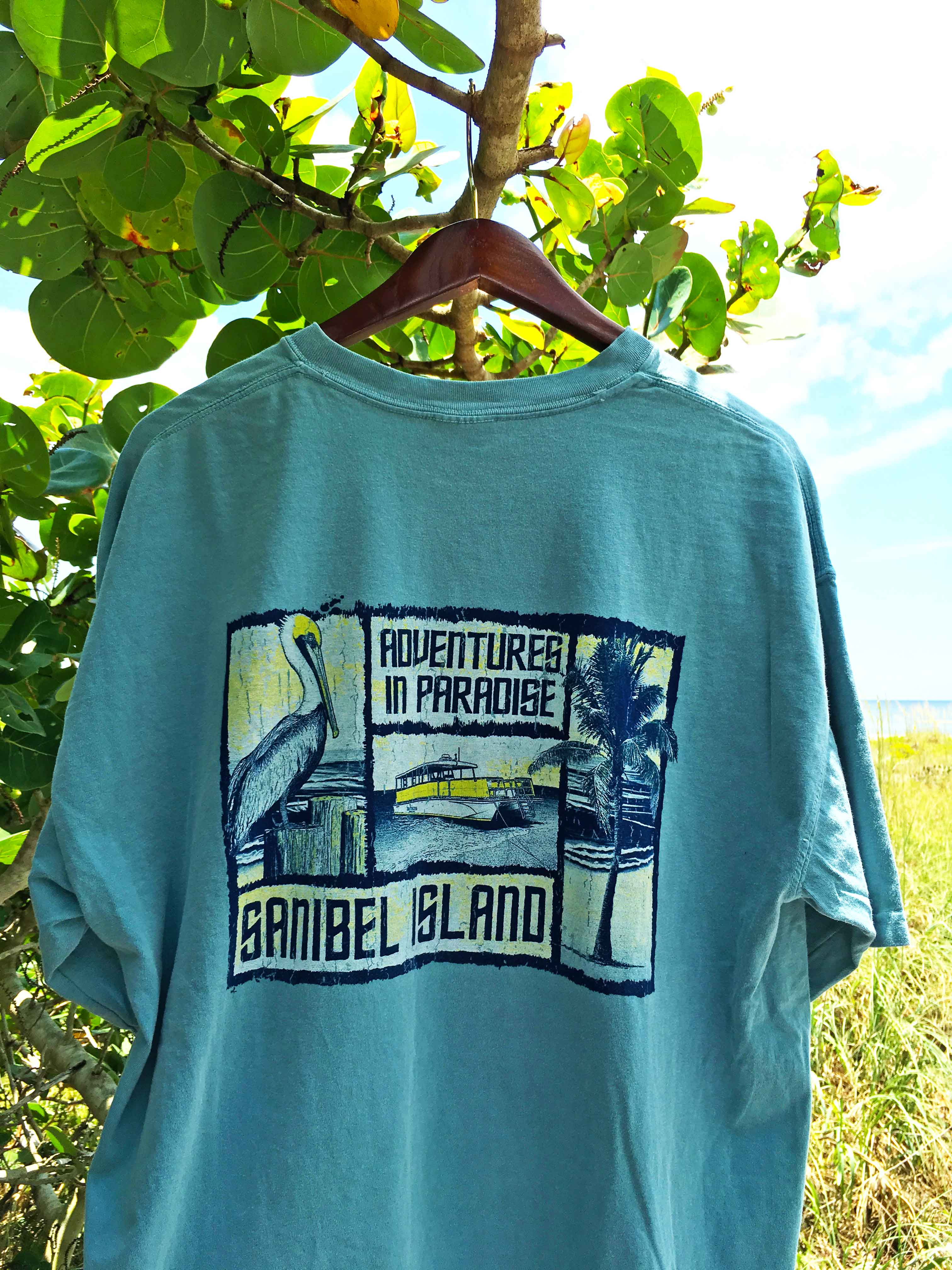sanibel adventure t shirt adventures in paradise outfitters to the outsiders. Black Bedroom Furniture Sets. Home Design Ideas