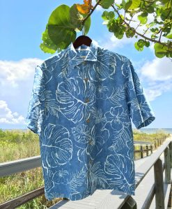 tommy-bahama-dress-shirt-blue-print