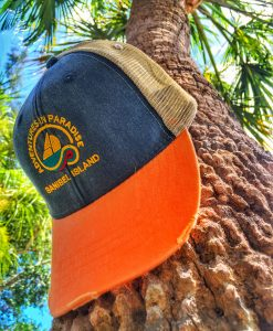 sanibel-trucker-hat-orange-navy-patagonia