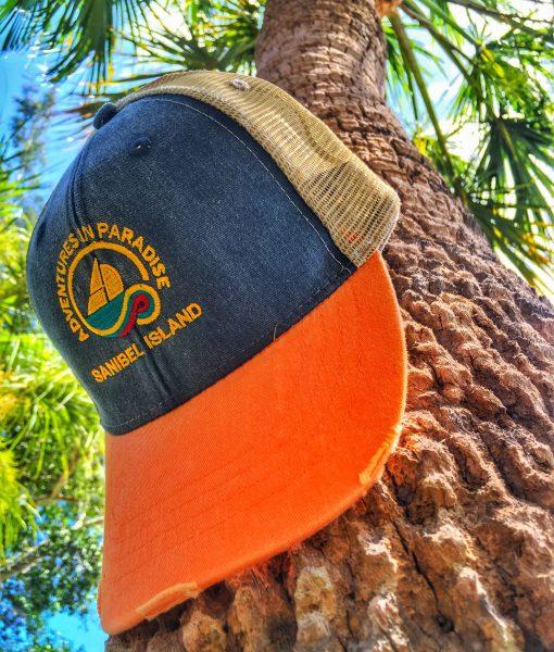 sanibel-trucker-hat-orange-navy-patagonia