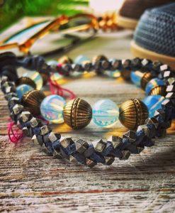 beachy bracelet combo opal brass